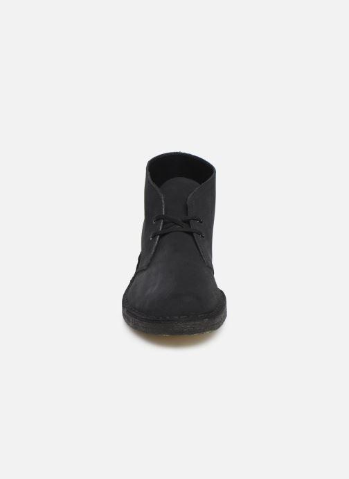 Stiefeletten & Boots Clarks Originals Desert Boot M blau schuhe getragen