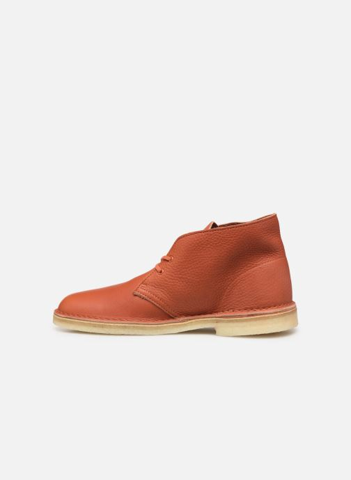 Bottines et boots Clarks Originals Desert Boot M Orange vue face