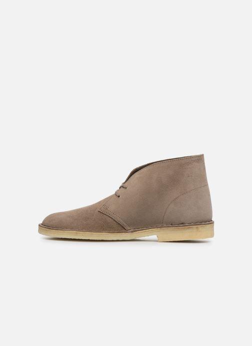 Bottines et boots Clarks Originals Desert Boot M Violet vue face