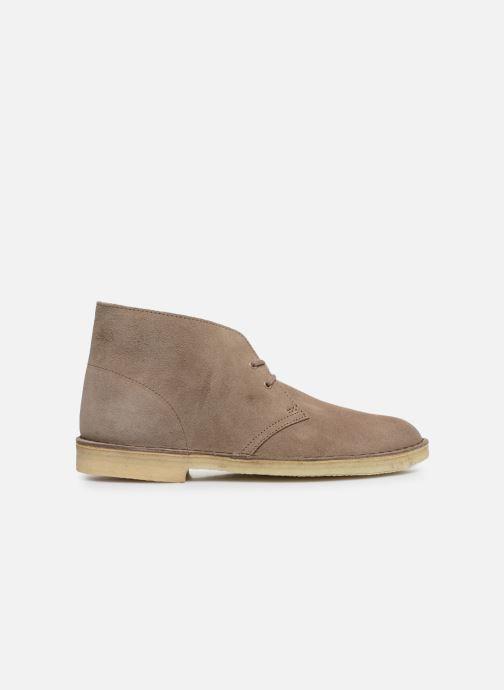 Bottines et boots Clarks Originals Desert Boot M Violet vue derrière