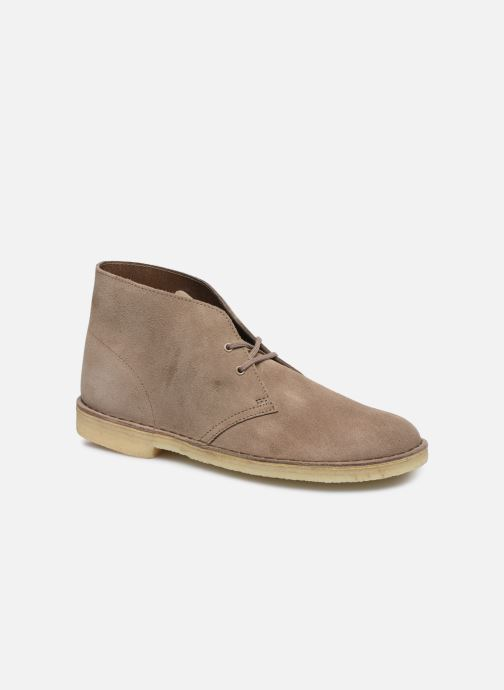 Bottines et boots Clarks Originals Desert Boot M Violet vue détail/paire