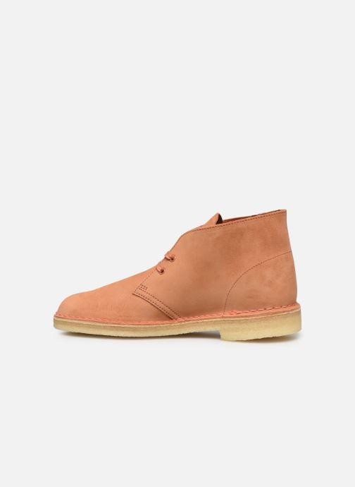Stiefeletten & Boots Clarks Originals Desert Boot M orange ansicht von vorne
