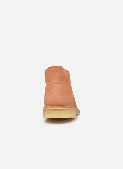 Stiefeletten & Boots Clarks Originals Desert Boot M orange ansicht von rechts