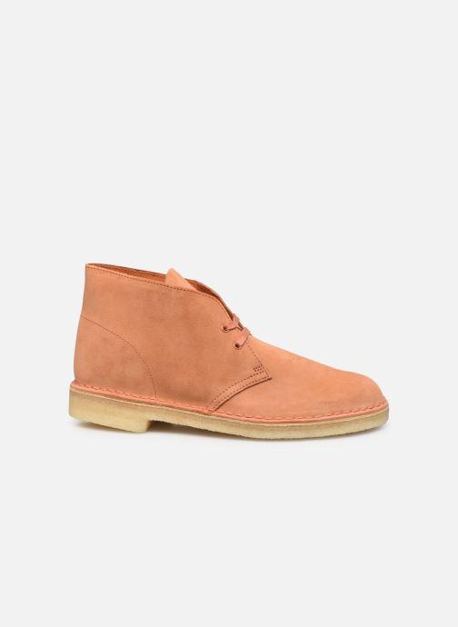 Stiefeletten & Boots Clarks Originals Desert Boot M orange ansicht von hinten