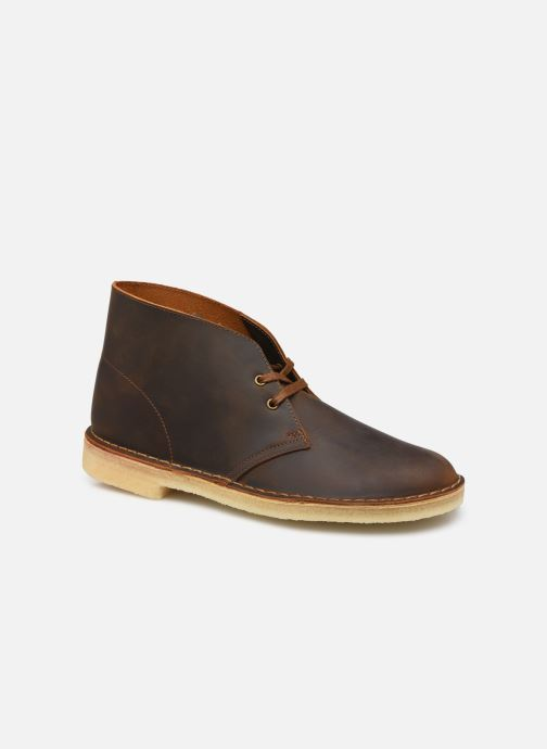 Bottines et boots Clarks Originals Desert Boot M Marron vue détail/paire