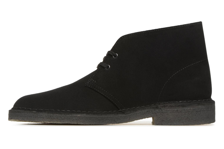 Boots en enkellaarsjes Clarks Originals Desert Boot M Zwart voorkant