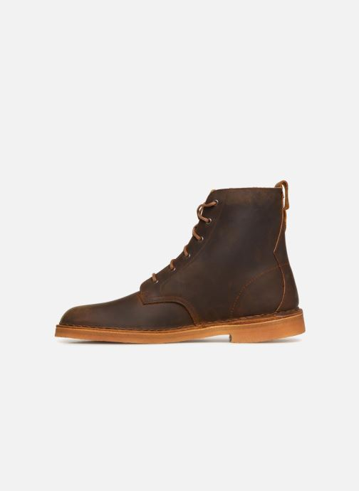 Stiefeletten & Boots Clarks Originals Desert Mali  M braun ansicht von vorne