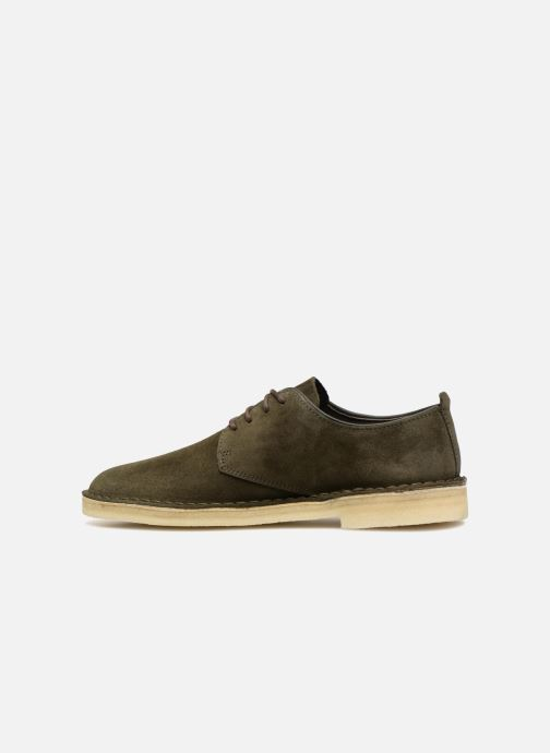 Chaussures à lacets Clarks Originals Desert London M Vert vue face