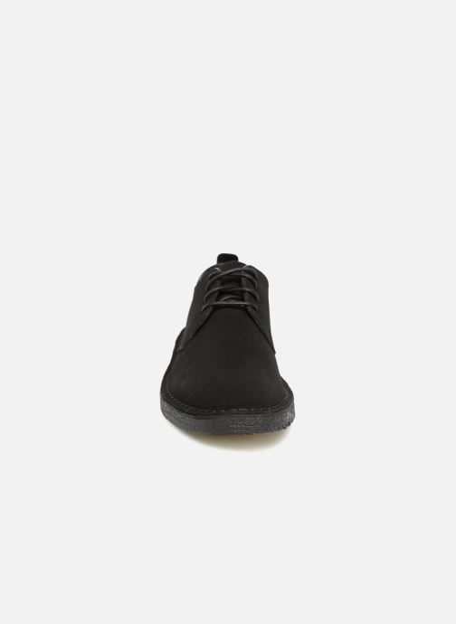 Schnürschuhe Clarks Originals Desert London M schwarz schuhe getragen