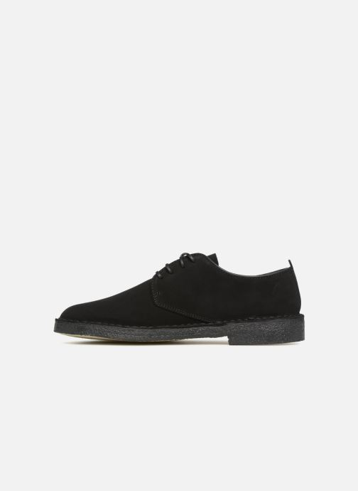 Chaussures à lacets Clarks Originals Desert London M Noir vue face