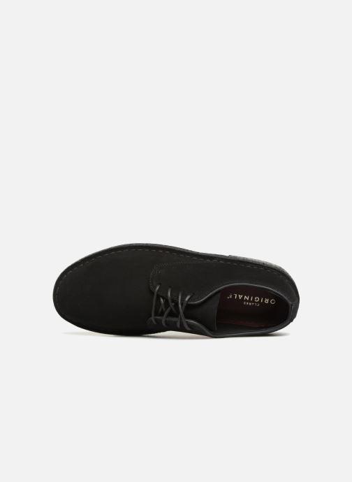 Zapatos con cordones Clarks Originals Desert London M Negro vista lateral izquierda