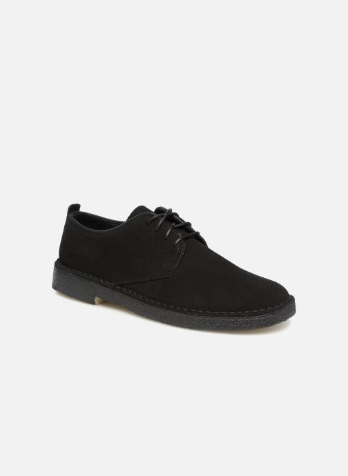 Chaussures à lacets Clarks Originals Desert London M Noir vue détail/paire
