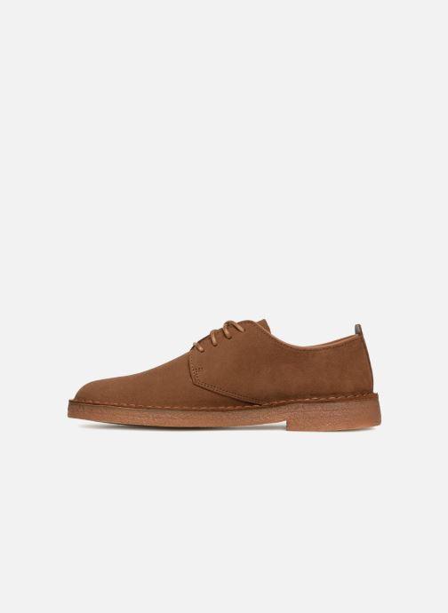 Lace-up shoes Clarks Originals Desert London M Brown front view