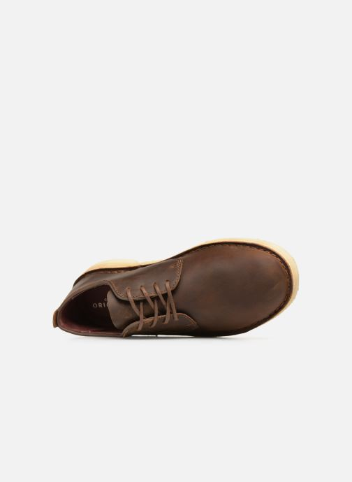 Lace-up shoes Clarks Originals Desert London M Brown view from the left