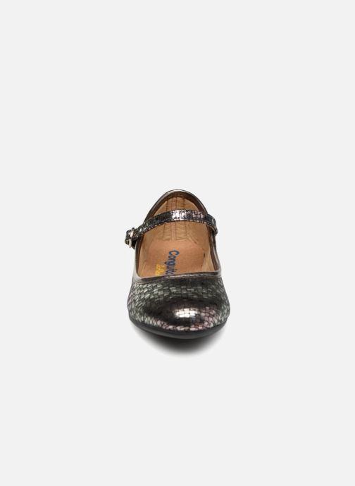 Ballerines Conguitos Carina Argent vue portées chaussures