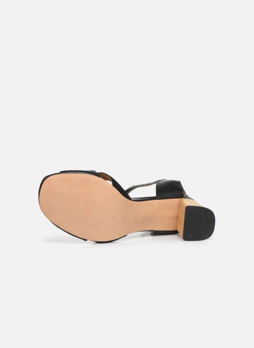 Sandales et nu-pieds Anonymous Copenhagen Abierta Noir vue haut