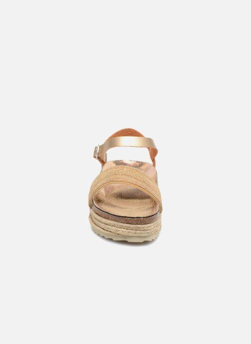 Sandales et nu-pieds Xti 48073 Or et bronze vue portées chaussures