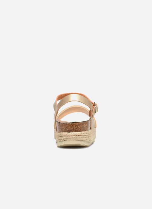 Sandales et nu-pieds Xti 48073 Or et bronze vue droite