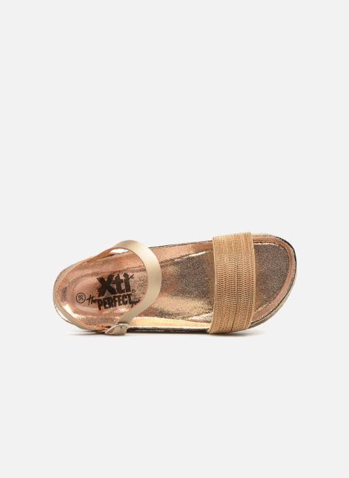 Sandales et nu-pieds Xti 48073 Or et bronze vue gauche