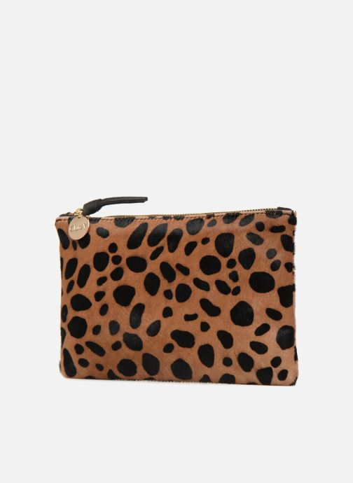 Wallets & cases Clare V. CLUTCH 10003 Brown model view