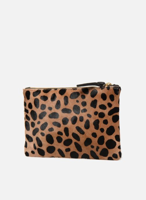 Wallets & cases Clare V. CLUTCH 10003 Brown view from the right