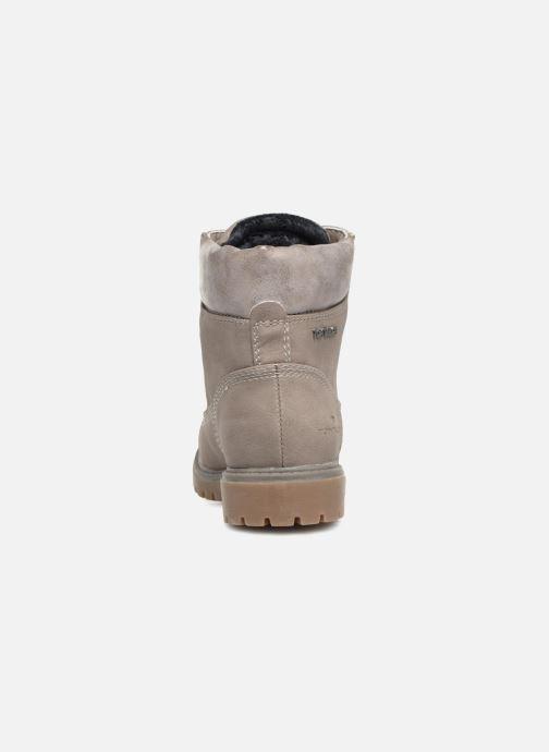 Bottines et boots Tom Tailor Alba Gris vue droite