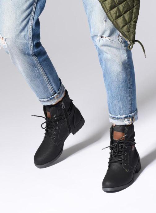 Bottines et boots Tom Tailor Carmen Noir vue bas / vue portée sac