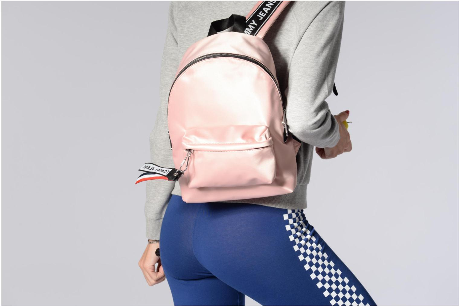 Hilfiger TOMMY MINI JEANS LOGO SATIN Tommy 640 CLOUD BACKPACK ROSE vwf6qwa