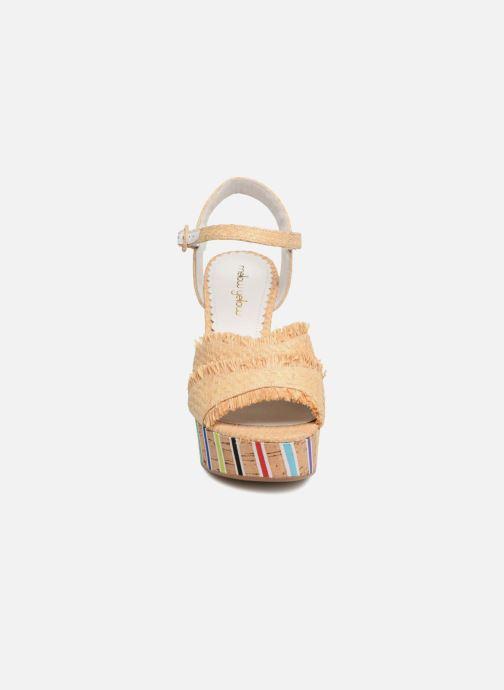 Sandalen Mellow Yellow Bahila beige schuhe getragen