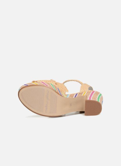 Sandales et nu-pieds Mellow Yellow Bahila Beige vue haut