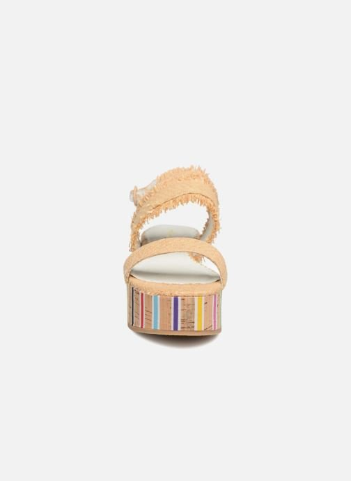 Sandales et nu-pieds Mellow Yellow Bahine Beige vue portées chaussures