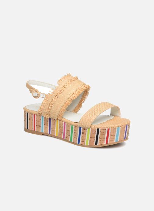 Sandales et nu-pieds Mellow Yellow Bahine Beige vue détail/paire