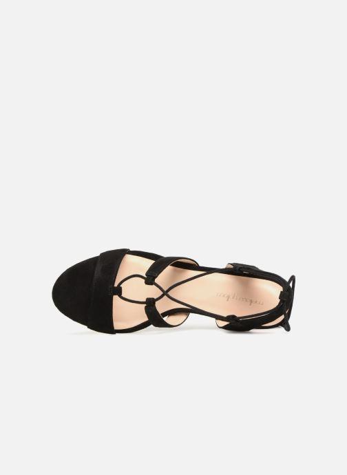 Sandales et nu-pieds Mellow Yellow Brune Noir vue gauche