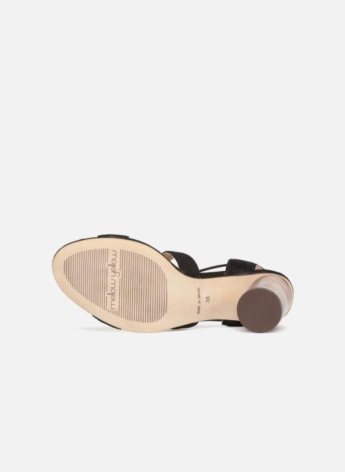 Sandales et nu-pieds Mellow Yellow Brune Noir vue haut
