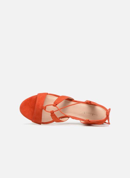 Sandales et nu-pieds Mellow Yellow Brune Orange vue gauche