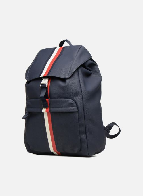 Mochilas Tommy Hilfiger BLOCK STRIPE BACKPACK Azul vista del modelo