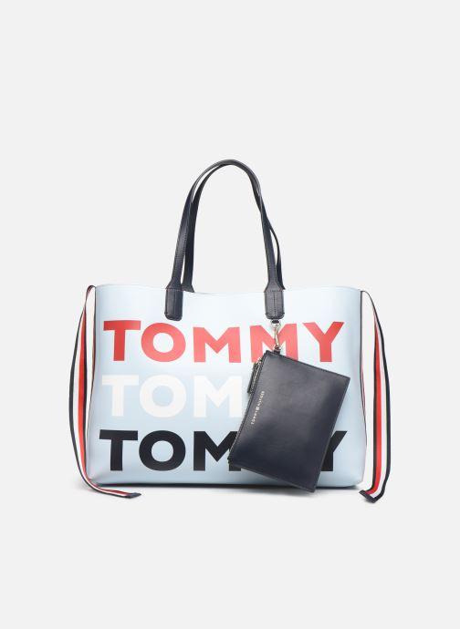 Bolsos de mano Tommy Hilfiger ICONIC TOMMY TOTE Azul vista lateral izquierda