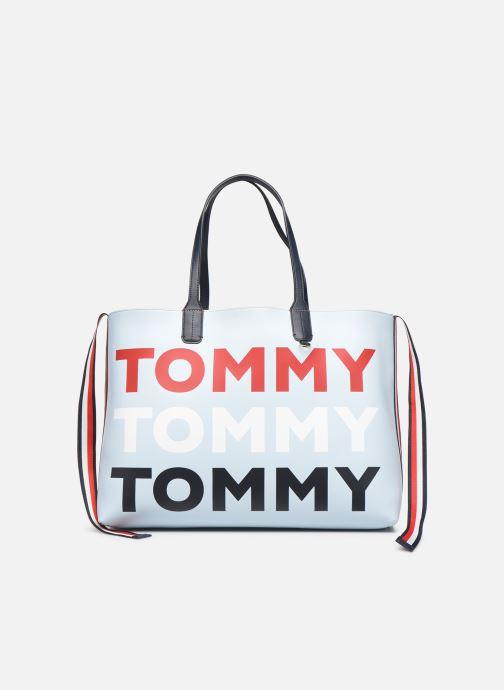 Bolsos de mano Tommy Hilfiger ICONIC TOMMY TOTE Azul vista de detalle / par