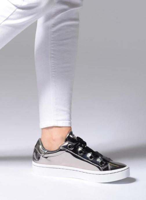 Sneaker Skechers Hi-Lite Liquid Bling silber ansicht von unten / tasche getragen
