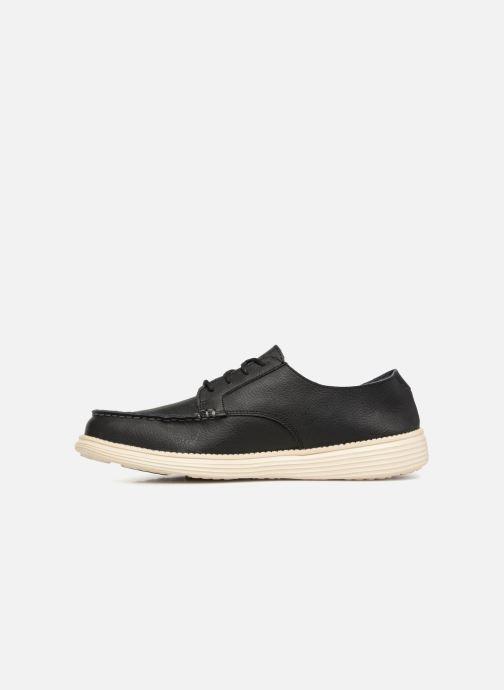 Lace-up shoes Skechers Status Lerado Black front view