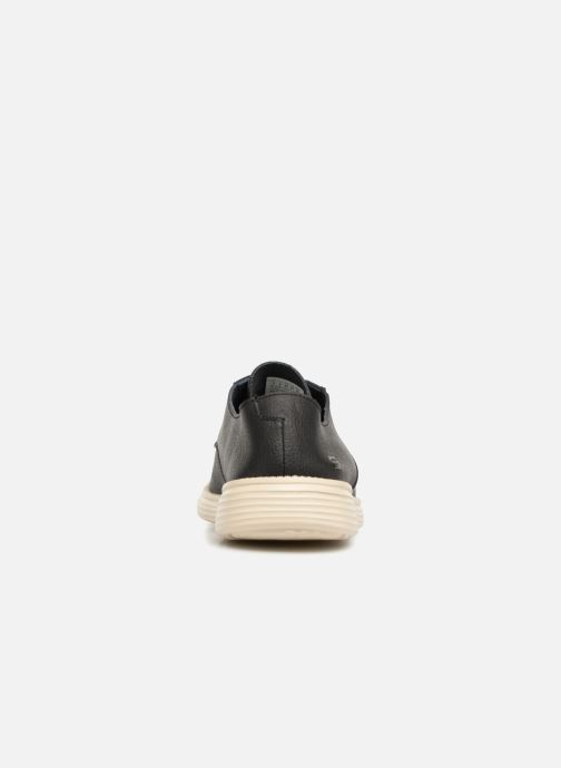 Lace-up shoes Skechers Status Lerado Black view from the right