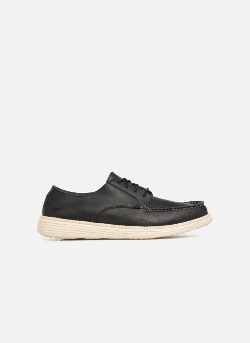 Lace-up shoes Skechers Status Lerado Black back view