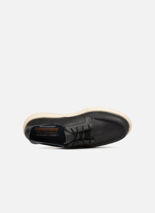 Lace-up shoes Skechers Status Lerado Black view from the left