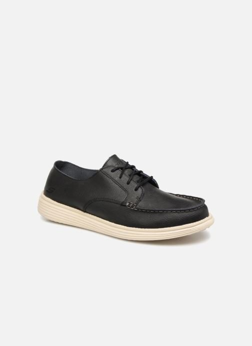 Lace-up shoes Skechers Status Lerado Black detailed view/ Pair view