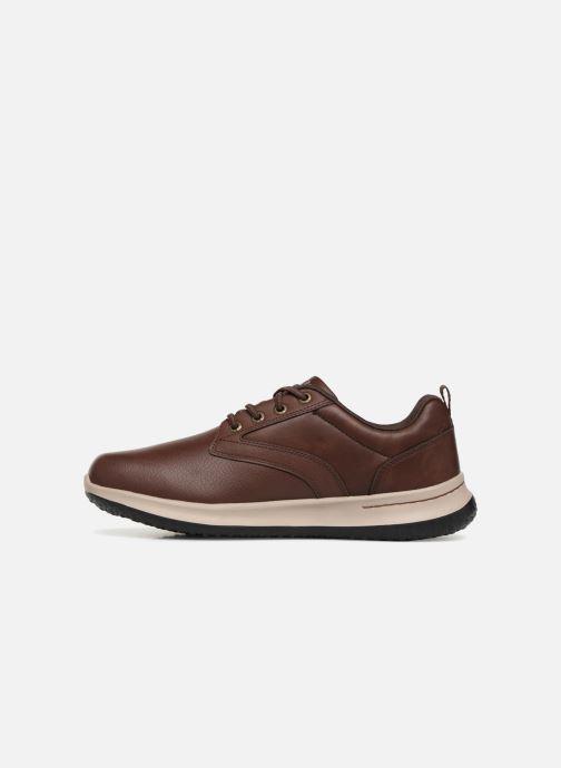 Sneakers Skechers Delson Antigo Brun bild från framsidan