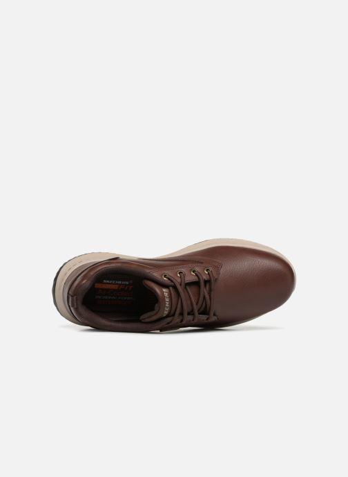 Sneakers Skechers Delson Antigo Brun bild från vänster sidan