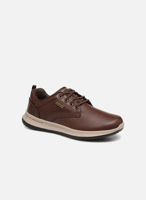 Sneakers Skechers Delson Antigo Brun detaljerad bild på paret
