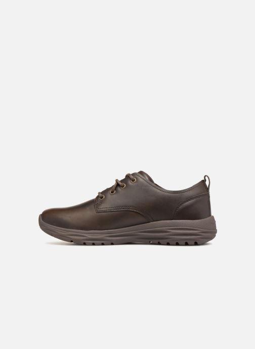 Zapatos con cordones Skechers Harsen Artson Marrón vista de frente
