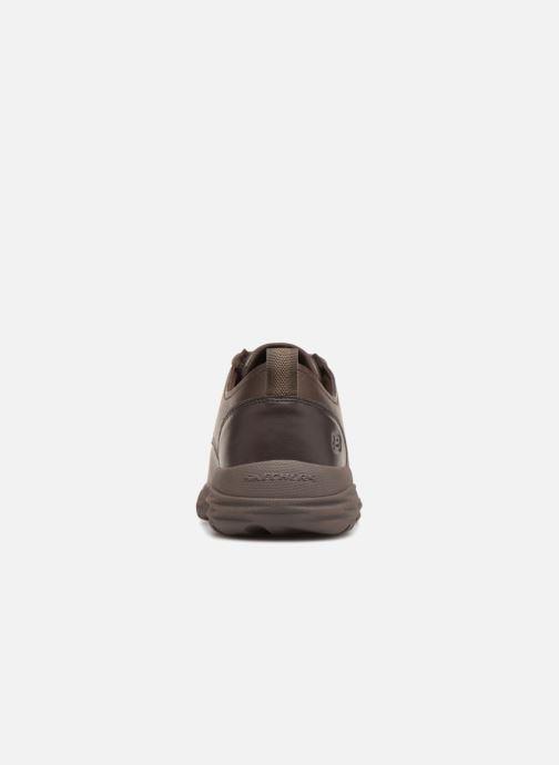 Zapatos con cordones Skechers Harsen Artson Marrón vista lateral derecha