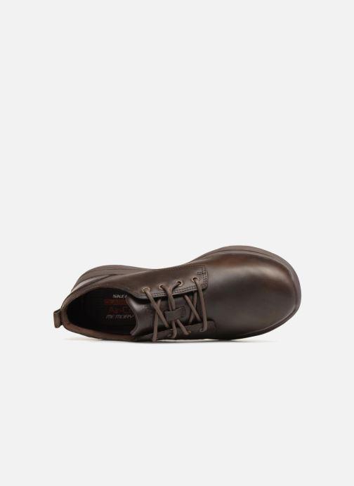 Zapatos con cordones Skechers Harsen Artson Marrón vista lateral izquierda